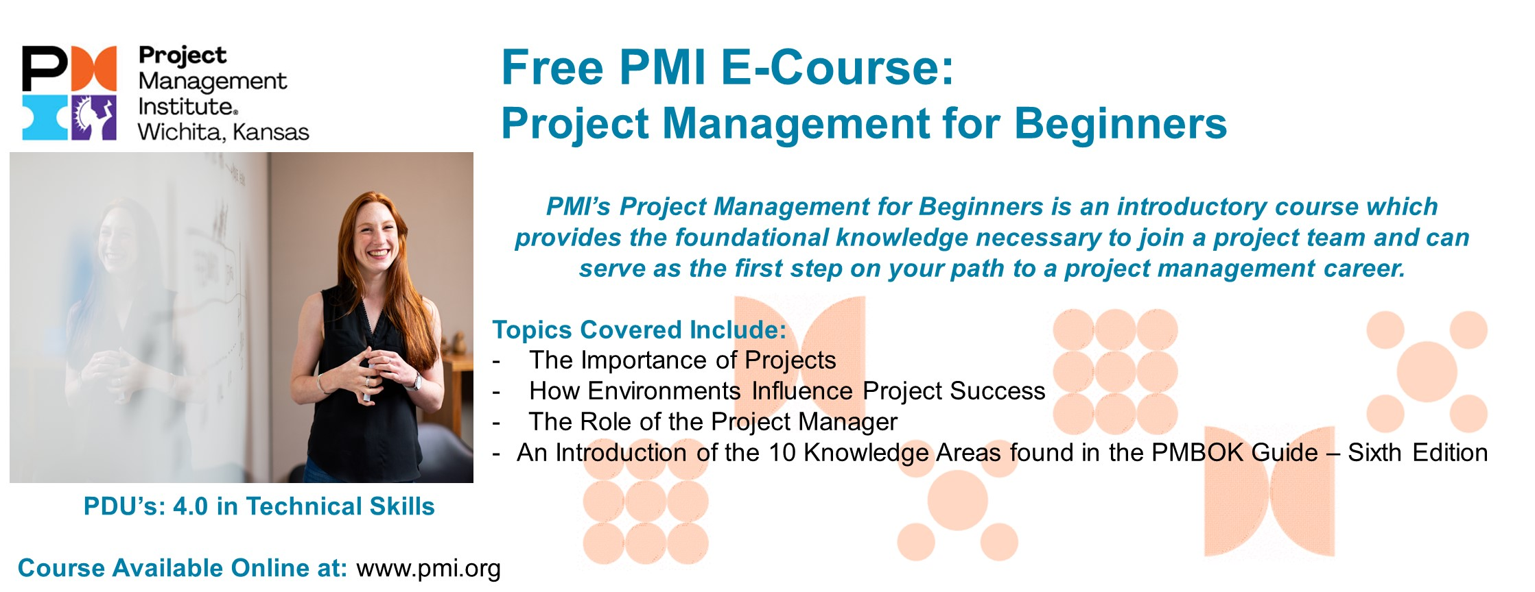 Project Management for Beginners E Course Website Landing