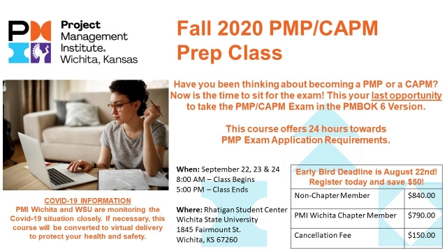 Fall PMP Prep Class Event Graphic